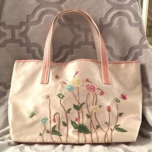 Embroidered Floral Tote Bag